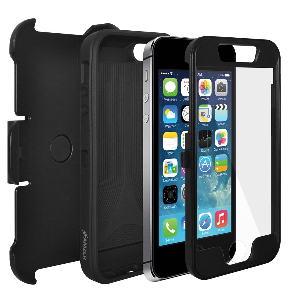 cf02e0a9bea AMZER Full Body Hybrid Credit Card Case with Holster  Amazon.in  Electronics