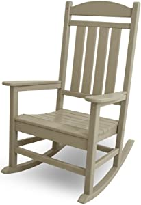 POLYWOOD R100SA Presidential Rocking Chair, Sand