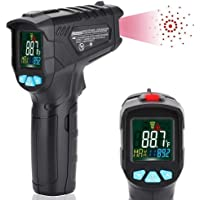 Infrared Thermometer, Non Contact Digital Laser Instant IR Temperature Gun -58℉~1022℉ (-50℃~550℃) with HD Backlight Colorful LCD Display Accuracy Reading for Kitchen Cooking BBQ Bath Water Automotive Industrial