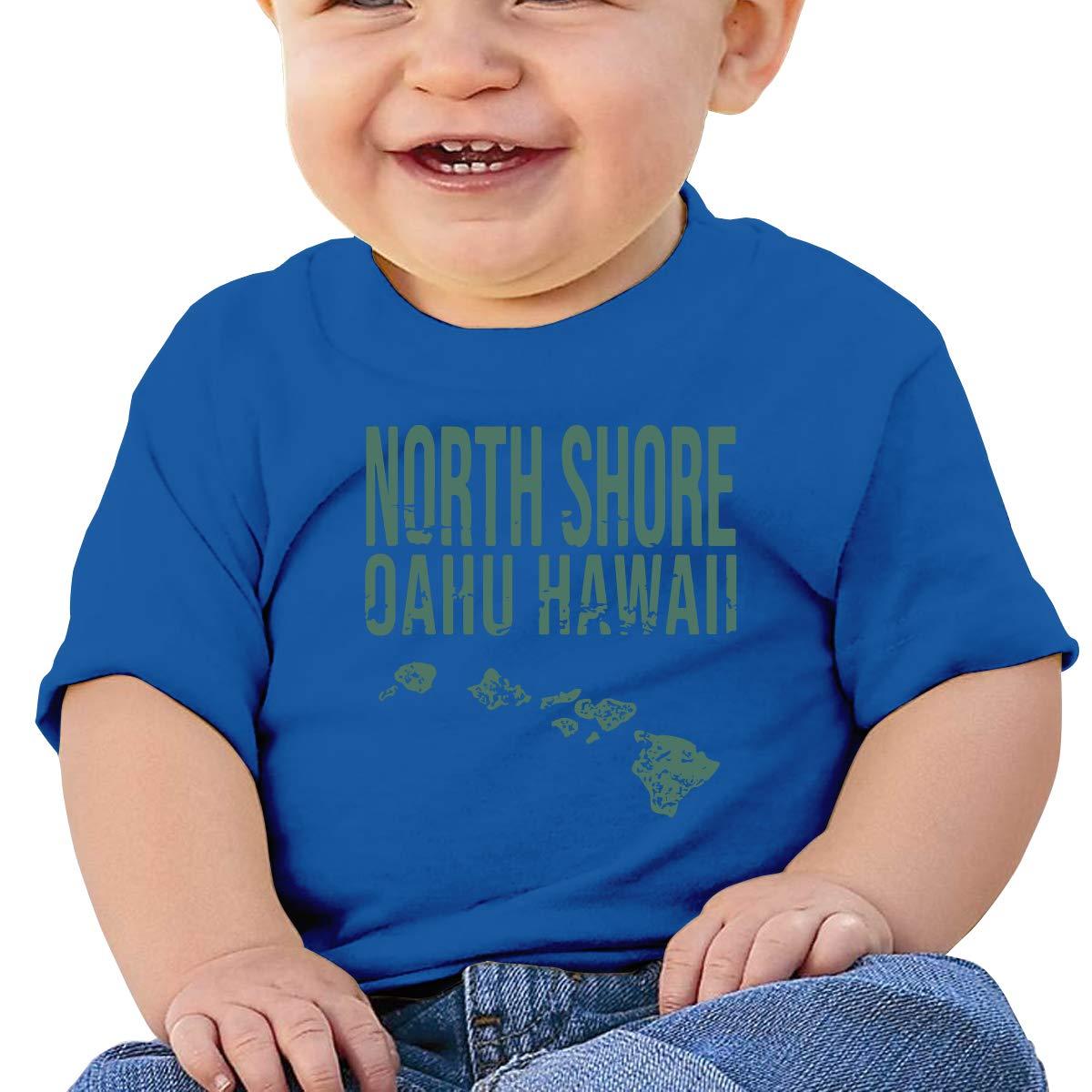 XHX403 Hawaii Oahu Islands Map Infant Kids T Shirt Cotton Tee Toddler Baby 6-18M
