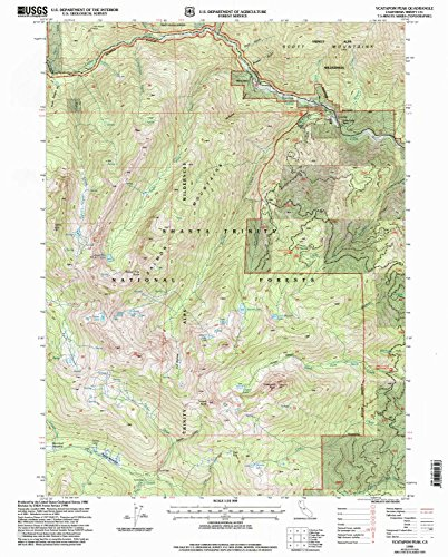 Ycatapom Peak CA topo map, 1:24000 scale, 7.5 X 7.5 Minute, Historical, 1998, updated 2003, 26.7 x 21.4 IN - - North Conway Usa