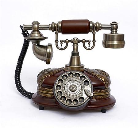 FANGGUDIANHUA Tocadiscos Antiguos de teléfono Retro Vintage ...
