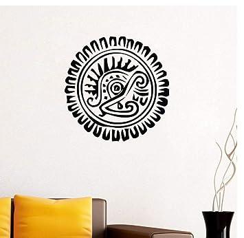 Pegatinas de pared de girasol azteca Decoración para el hogar Sala ...