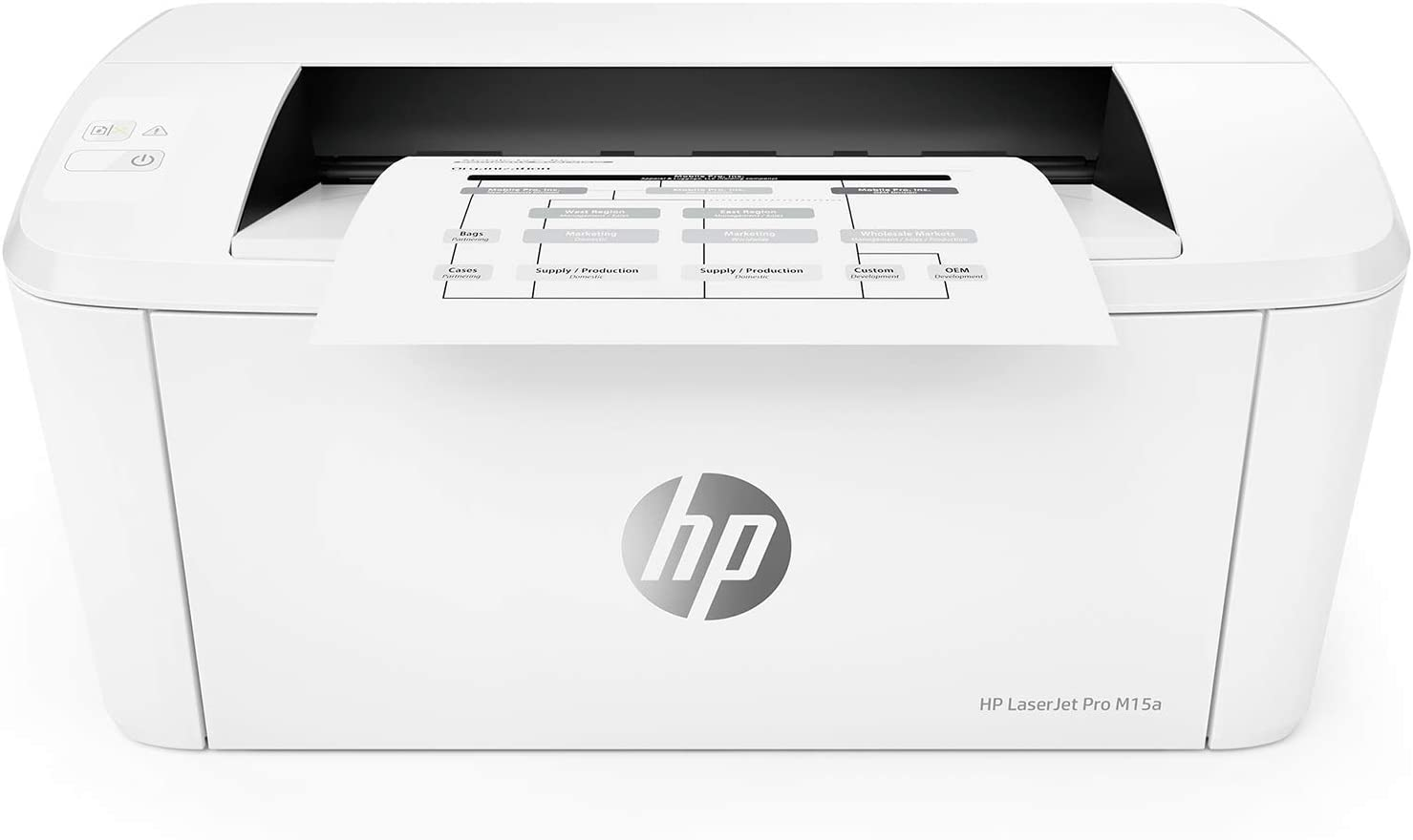 HP Laserjet Pro M15a World's Smallest Black-and-White Monochrome Laser Printer W2G50A (Includes Toner and USB Cable) (Renewed)