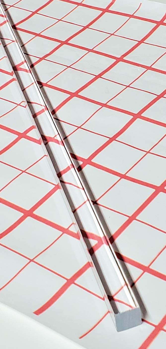 """4 Pack 3 Feet Clear Rectangle Solid Rods 3//8/"""" Width x 1//8/"""" Height AZM 36/"""""""