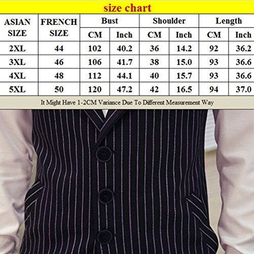 Long XXXL Zhhlaixing Vest 5XL Size Fit Suit Cómodo Mens 4XL Waistcoat Slim XXL Black Sleeveless PUqnFEqWS