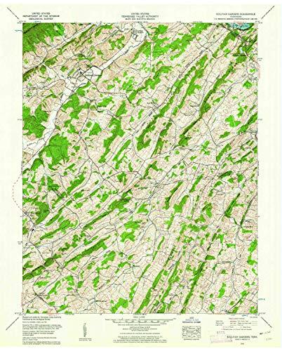 (YellowMaps Sullivan Gardens TN topo map, 1:24000 Scale, 7.5 X 7.5 Minute, Historical, 1959, Updated 1962, 27.4 x 22 in - Tyvek)