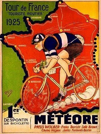 Thomann Tour de France Bicycle Poster Print Art Advertisement Bike Cycling