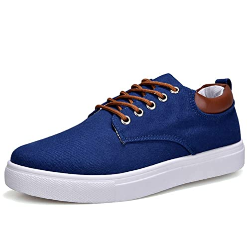 Zapatos de Lona Hombres Zapatos Casuales Primavera otoño Zapatillas Cordones Hombres cómodos Zapatos Hechos a Mano: Amazon.es: Zapatos y complementos