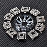 FidgetFidget Set Engine Cover Undertray Kit Screw Metal Clips for Audi VW Skoda 8D0805121