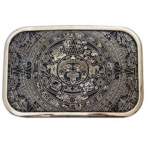 Mens Rectargular Aztec Mayan Calender Maya Mexico Ancient Aliens Belt Buckle New