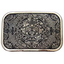 Mens Rectargular Aztec Mayan Calender Maya Mexico Ancient Aliens Belt Buckle New