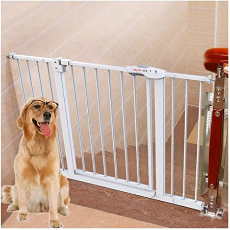 Huo Barrera de Seguridad para Niños Puerta de Escalera Valla para Bebés Barrera Interior Valla para Mascotas Puerta de Aislamiento para Perros (Size : 105-124cm): Amazon.es: Hogar