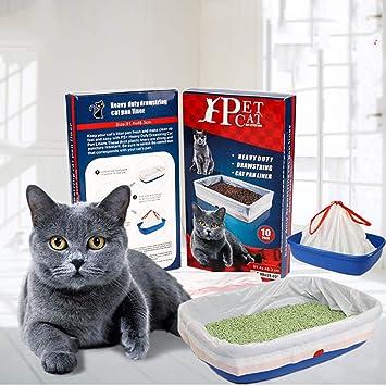 Amazon.com: ZOSEN - Caja de arena para gatos con cordones y ...