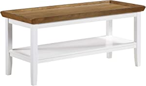 Convenience Concepts Ledgewood Coffee Table, Driftwood / White