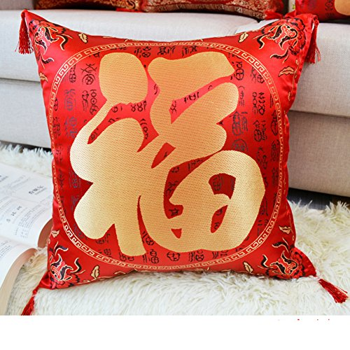More colors Chinese-style sofa pillow PP cotton back cushion pillowcase for sofa and bed -J 40x40cm(16x16inch)VersionA