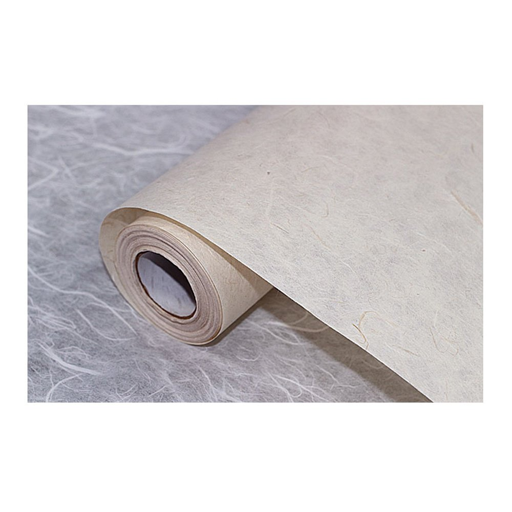 Korean Traditional Mulberry Paper HanJi Unbleached Non-Whitening 35.8'' x 787.4''