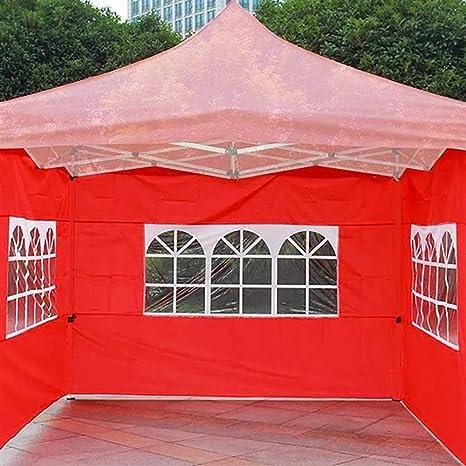 Carpa de Fiesta al Aire Libre de 3x3m 3 Lados Pared Impermeable Jardín Patio Toldo Sombrilla Al Aire Libre Tienda de campaña (Color : Red): Amazon.es: Deportes y aire libre