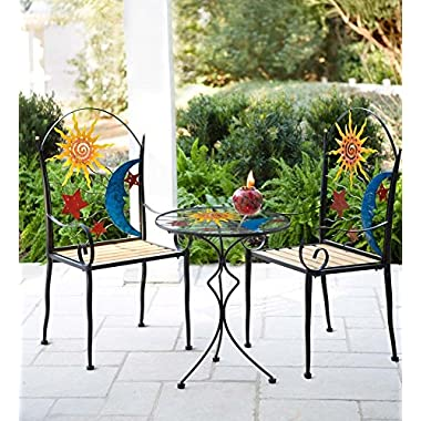 Stars, Moon and Sun Metal Chair and Table Set
