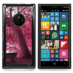 SKCASE Center / Funda Carcasa protectora - Red Forrest Park;;;;;;;; - Nokia Lumia 830