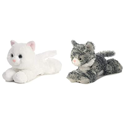 "Aurora 31265,31713 Bundle of 2 7.5"" Floppy Beanbag Cat Stuffed Animals-Lily & Sugar, Multicolor: Toys & Games"