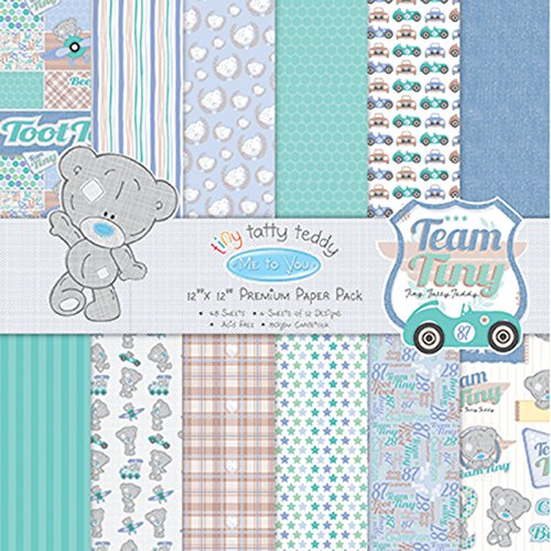 trimcraft-tiny-tatty-teddy-boy-paper-pack-36-pack-12-by-12