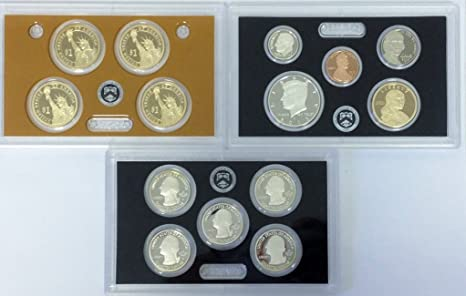 2007 S U.S 14 coins with Native American /& Quarters Mint 90/% Silver Proof set