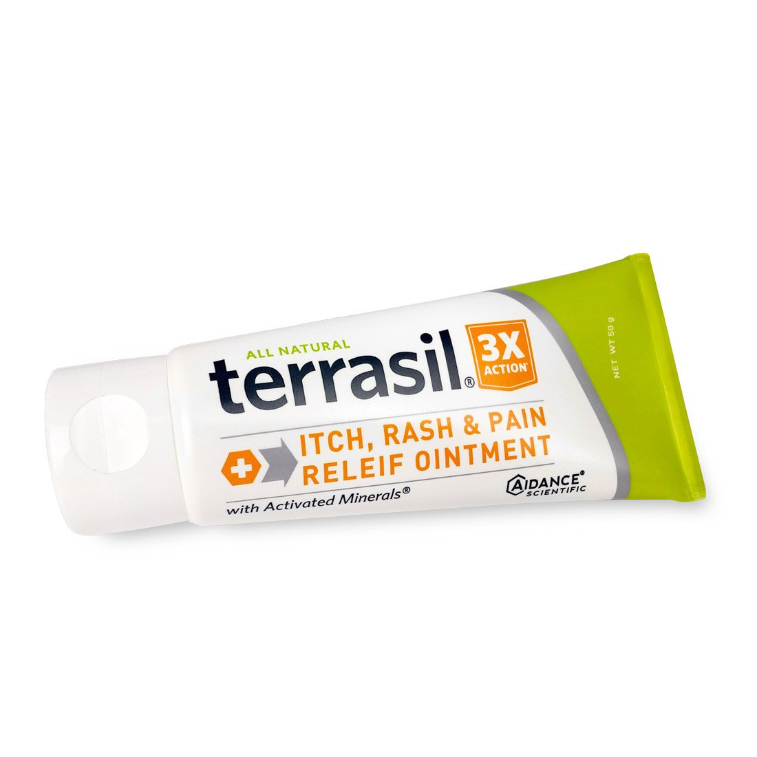 Terrasil® Itch, Rash, and Pain Relief - Fast-acting, soothing, 100% Guaranteed, All-natural ointment for, itching, dermatitis, eczema, sunburn, heat rash, poison ivy, rashes, irritation - 50g