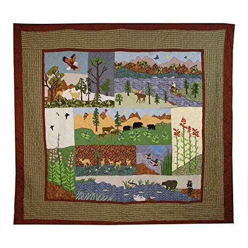 Patch Magic Natures Splendor Quilt, Luxury King, 120-Inch by 106-Inch