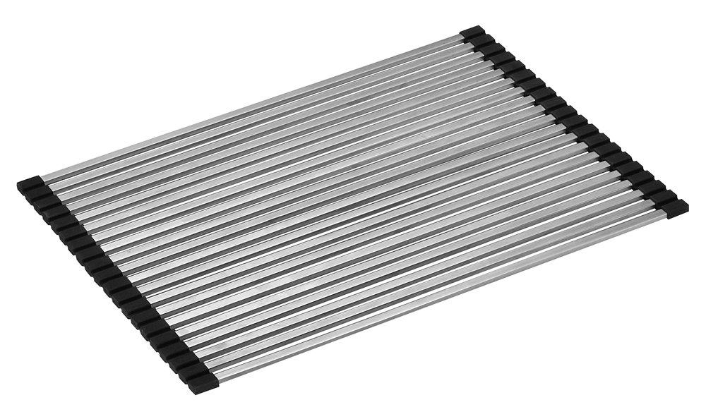 ALFI brand ABDM1813 18 x 13 Modern Stainless Steel Drain Mat for Kitchen Silver ALFI TRADE