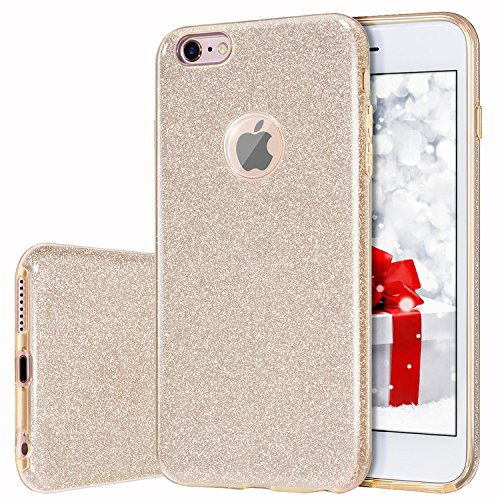 iPhone 6s Plus/6 Plus Case, MILPROX Bling Glitter Pretty Sparkle 3 Layer Hybrid Anti-Slick/Protective/Soft Slim TPU Case for Girls/Women iPhone 6s Plus / 6 Plus- -