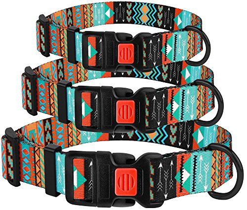 Pictures of CollarDirect Nylon Dog Collar with Buckle Tribal 3