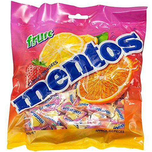 Mentos Fruit 150 Single Serve Pillow Packs 405g 14.3oz Large Bag