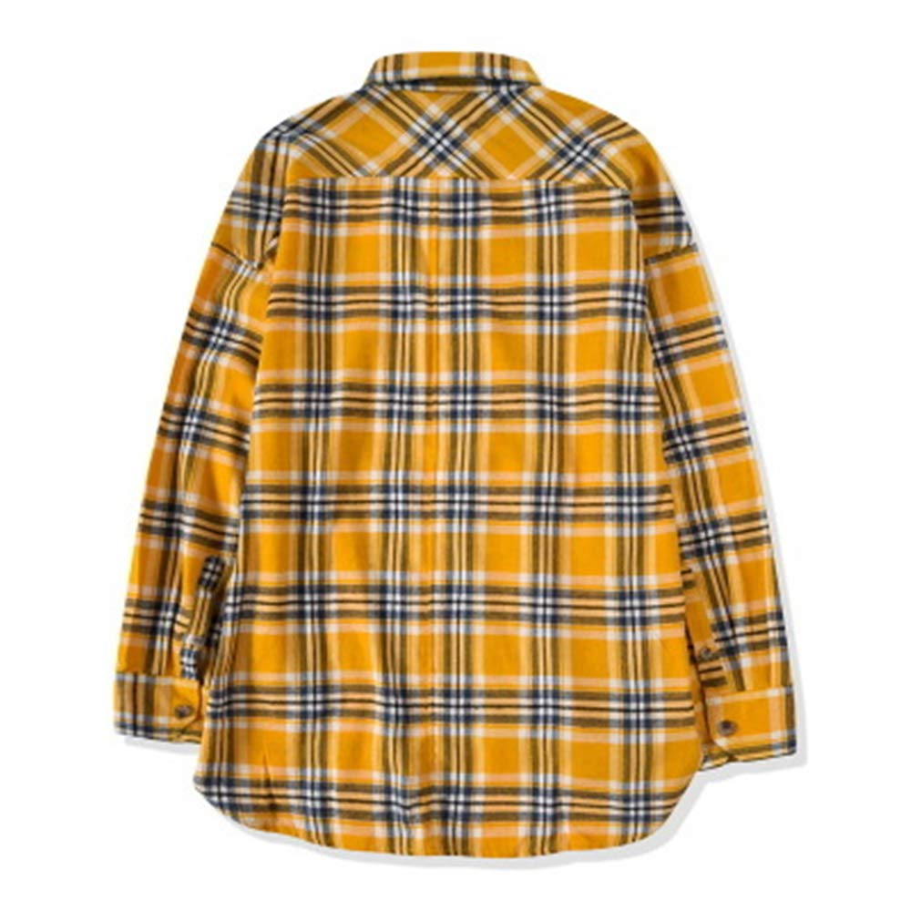 Mens Comfortable Long Sleeve Plaid Work Shirt