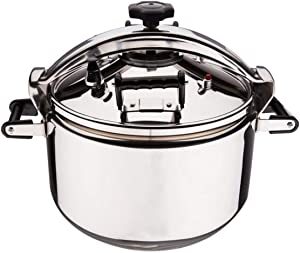 Stainless steel pressure cooker, pressure cooker, induction cooker suitable for kitchen and steamer and frosting knob of slow cooker any compatible stove 3L-30L (Color : Silver, Size : 7L)