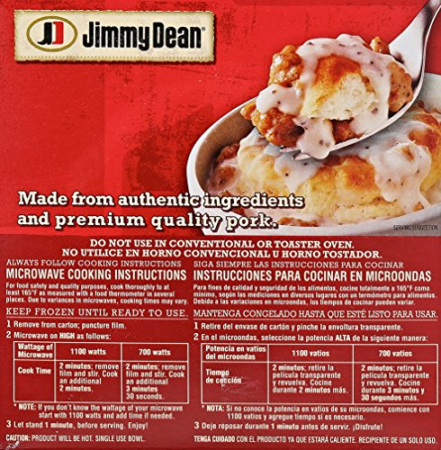 Jimmy Dean, Biscuit & Sausage Gravy Breakfast Bowl, 9 oz. (Frozen): Amazon.com: Grocery & Gourmet Food