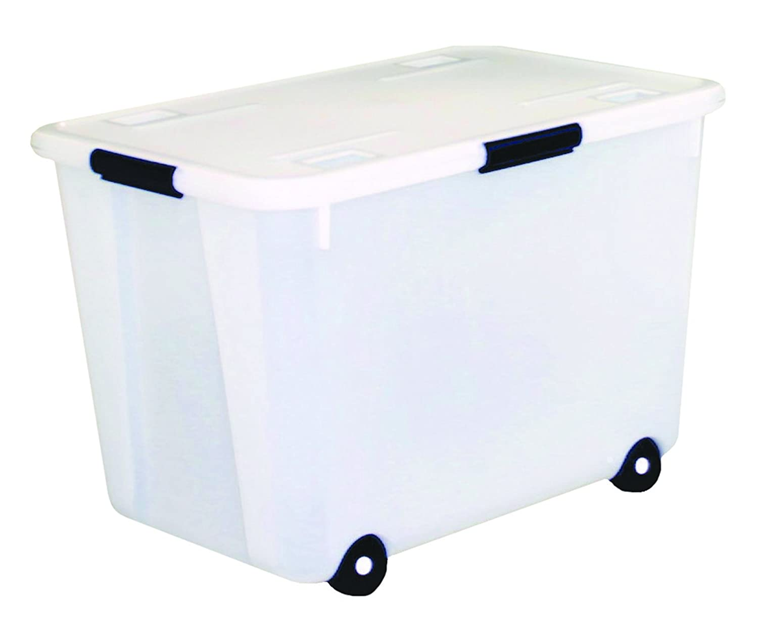 amazoncom advantus rolling storage box with snap lid 15gallon size clear office products