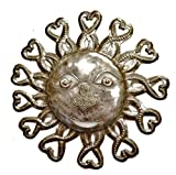Metal Sun Yard Art – Handcrafted From Haiti, Recycled Oil Drums 10.5″x11″