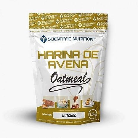 Harina De Avena Oatmeal 1.5 Kg - Scientiffic Nutrition, NUTCHOC: Amazon.es: Salud y cuidado personal