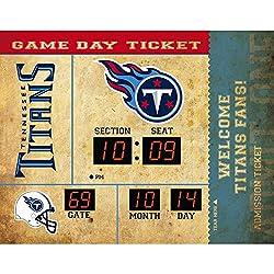 Team Sports America Tennessee Titans Bluetooth Scoreboard Wall Clock