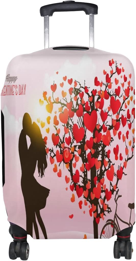 Use4 Valentines Day Heart Tree Luggage Suitcase Protective Cover for Travel 31-32 Inch