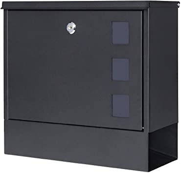 Locking Mailbox Wall Mounted Vertical Jssmst Mailboxes With Key Lock Large Capacity 14 3 X 4 1 X 11 8 Inch Black Sm Hpb911bn Amazon Com