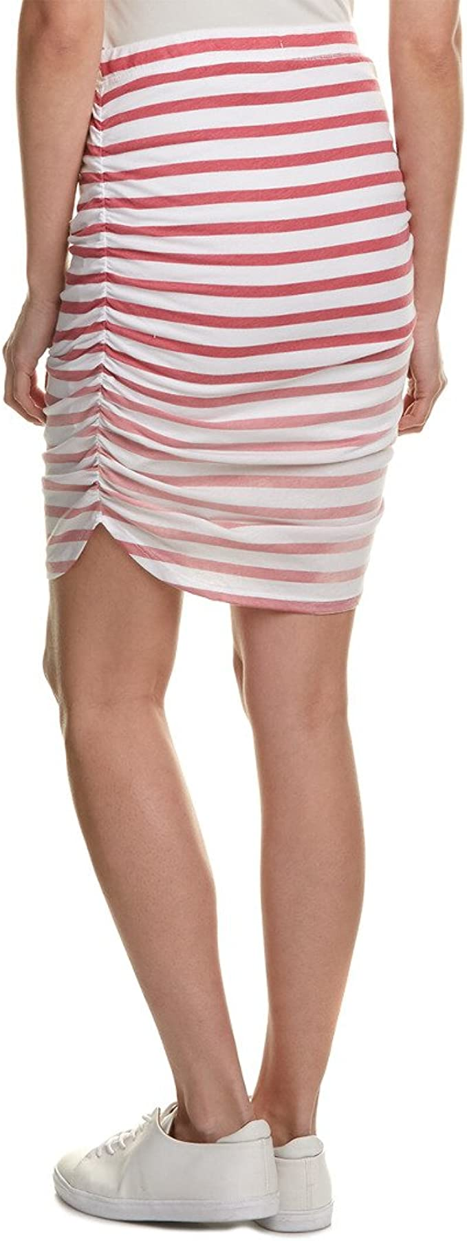 Splendid Womens Sunfaded Stripe Jersey Skirt