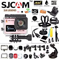 SJCAM SJ6 Kit Inclduing Extra Battery, Charger, SD-Card, 15-in-1 Accessories SJ6000 LEGEND 2″ LCD Touch Screen 2880×2160 4K Action Camera Novatek NT96660 Panasonic MN34120PA CMOS - Rose
