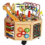 Meen Baby Walker, New Oversized Eight-Sided Multi-Function Treasure Chest Trolley Baby Puzzle Walker