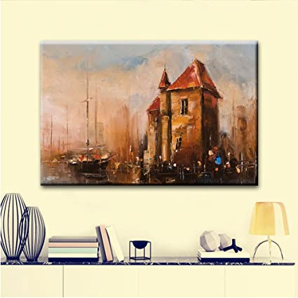 Amazon com: DIY Canvas Oil Printed Painting Blue Sky