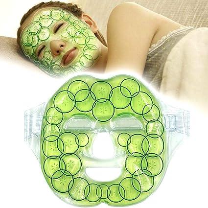 Máscara de gel para el rostro, mascarilla reutilizable de terapia de frío y calor para reducir los poros, reducir las arrugas, reparar las quemaduras solares y secar: Amazon.es: Belleza