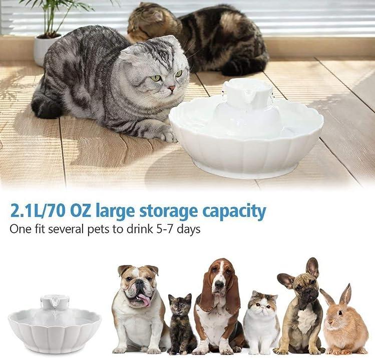 Fontaine en céramique pour chats et chiens Tritone de iPettie