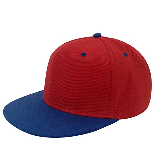 Image Unavailable. Image not available for. Color  Unisex Plain Adjustable  Fat Bill Baseball Cap Snapback Blank Hip Hop 6 Panel Hat fc3f18eb341d