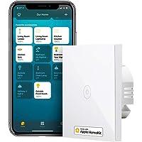 Smart ljusbrytare kompatibel med HomeKit, meross WLAN-väggströmbrytare, 1 vägs 1 växel kräver nollstege, kompatibel med…